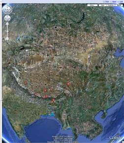 GoogleEarth Asian Rivers from Tibetan Plateau